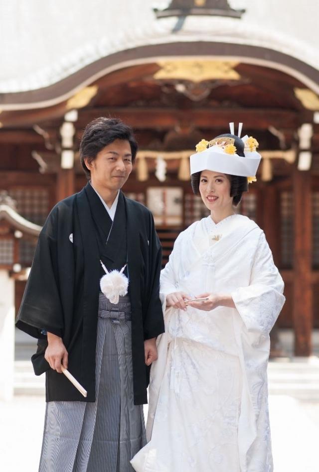 片山八幡宮挙式・料亭か茂免披露宴
