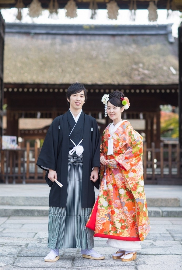 京都豊国神社挙式 京都ブライトンホテル披露宴