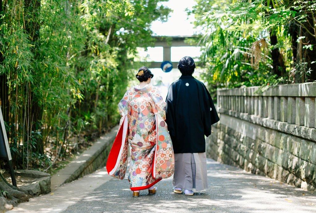本唐織色打掛の花嫁様