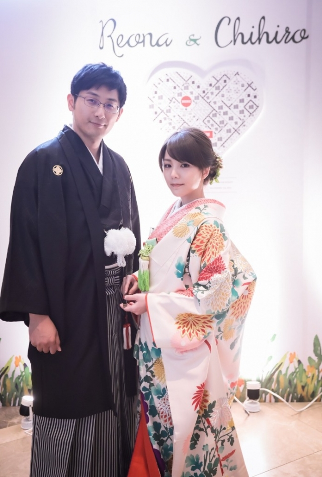 東郷神社挙式 白無垢、友禅色打掛