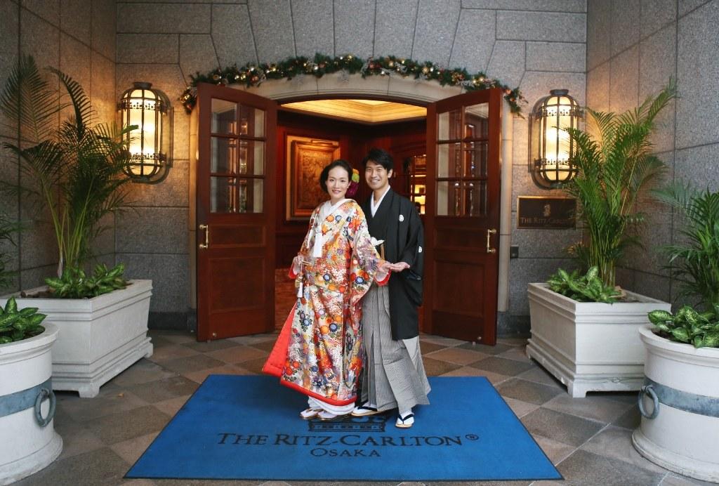 リッツカールトン大阪 唐織色打掛レンタル大阪